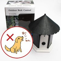 Wholesale Dog Pet Outdoor Ultrasonic Anti Bark Barking Control Discreet Birdhouse J00006 BAR