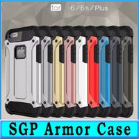 Wholesale SGP Dual Defender Hybrid Tough Armor Case For S7 Edge Plus S6 Coque TPU PC Back in1 Protective Cover For iPhone Plus S Plus quot
