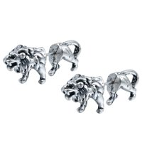 africa lions - 10Pair Realistic Lion Stud Earrings Unique Engagement Gift D Animal Africa Loin Stud Earrings for Women Orecchini