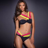Wholesale New hot Bikini Diamond Hollow Pros Duplex Multijunction Tee Sexy Ms Split Swimsuit Swimwear Women