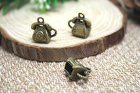 antique style telephone - 10pcs Telephone Charms Antique Tibetan Silver Tone D Antique Phone Style x14x14mm