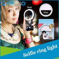 Wholesale Built in LED lights Ring Selfie flash Fill Lamp for iPhone Plus s iPad Samsung Galaxy S6 Edge S7 Edge Blackberry Motorola