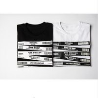 bar tshirts - Barcode T Shirt Unisex High Quality Cotton Tshirt Brand Clothing T shirt Kanye West Clothing Hip Hop Bar Code Suprem TShirts