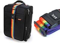 Wholesale 1pcs Minorder Rainbow Travel Luggage Suitcase Strap Luggage suitcase Secure Lock Safe Belt Strap m baggage Belt