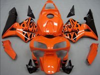Wholesale 4Gifts New ABS Injection Motorcycle Fairing Kit for HONDA CBR600RR F5 RR CBR600 Bodywork set Cowling orange black gloss
