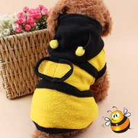 bees yellow jackets - Cute Bees Design Pet Dog Clothing Clothes Puppy Hoodie Winter Coat for Dogs