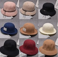 Wholesale Folding Mianma basin hat autumn lady Korean fisherman hat sunscreen sun hat all match British hat
