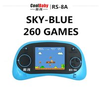 Wholesale Coolboy sky blue rs a game console children handle bit handheld Color Tetris game