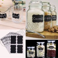 Wholesale 2000PCS MMA25 Set Blackboard Sticker Craft Kitchen Jar Organizer Labels Chalkboard Chalk Board Stickers Black Label