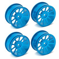 alloy racing rims - 4 Set NEW RC Model Car Aluminum Alloy Blue Wheel Rims With Spokes Metal Rim For Racing Car