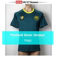 Whosales 2016 Camerún jerseys del fútbol de Tailandia camiseta de fútbol sin nombre ni número de Maillot del pie del envío libre