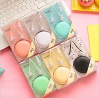 bags bass - Original Bass Colors mm In Ear Cute Macaron Bread Storage Bag Earphones birthday gifts for children lovely headphones