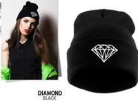 beret pattern knit - Knitting Men Women Cap Diamond Pattern Beanies Winter Wool Hats Unisex Berets ski Hip Hop cap Christmas gift Fashion Accessories