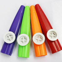 Wholesale 2016 new Musical Toy Kazoo Plastic Design Children Kid Gift Toy Musical Instrument Red Yellow for Choosing