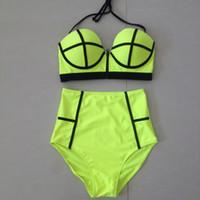 beach cover up xl - High Waist Swimwears for Women Neoprene Bathing Suit Swimsuits Beach Cover Up Bikini Sets Womens Swimwears