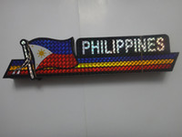 animals philippines - shinning laser printing PHILIPPINES flag sticker inch x inch cm x cm