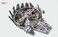Wholesale 1381pcs Star Wars Millennium Falcon Figure Toys building blocks marvel minifigures Kids Toy Compatible with legoe