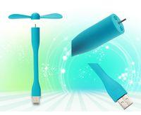 Wholesale USB Fan Gadgets Flexible USB Portable Mini Fan fridge cooler For Power Bank Notebook Laptop Computer Power saving
