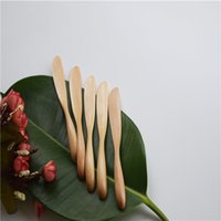 Wholesale Dutch wooden Butter Jam cutlery knife Mask knife with solid handle Japanese style