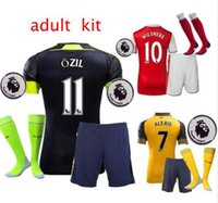 arsenal uniforms - 2016 Gunners Sets Uniform Home OZIL WILSHERE RAMSEY ALEXIS GIROUD Welbeck Third Arsenals Jerseys Kits Suit With Short Socks