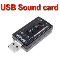 Wholesale 200 Channel USB Sound Card Mic speaker D external sound cards sound card Adapter for Desktop Notebook