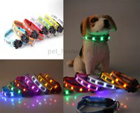 Wholesale Upgraded Edition LED Safety Lighting Nylon Collar with Gems for Dogs cm Width LED Dog Collar cm cm Length Pet Collar Charms Supplier