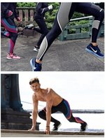 Wholesale Summer Sports Yoga Trousers Printing Elasticity Tight Fitness Pants Men