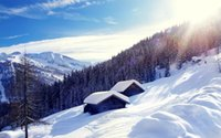 alps lighting - ski touring austria alps x36 inch art silk poster Wall Decor