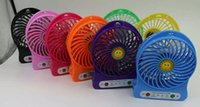 Wholesale Mini Portable Fan Multifunctional USB Rechargeable Kids Table Fan LED Light Battery Adjustable Speed Multi Color In Stock