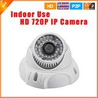 Easy Operation Russe Portugais Espagnol HD 1280 * 720P Caméra IP Dôme 1.0MP Caméra de sécurité Lens Mégapixel ONVIF 2.0 P2P intérieur