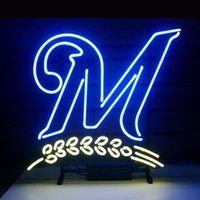beer brewers - Brand New Baseball MILWAUKEE BREWERS Glass Neon Sign Beer light quot X24 quot