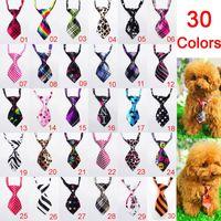 al por mayor accesorios para perros-10 Piezas 30colors lazo del perro Ropa para mascotas Ropa accesorios de ropa Puppy corbatas perros Productos de belleza al por mayor