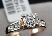 Wholesale Top Selling High Quality K Rose Gold Plated Fashion CZ Diamond Wedding Rings