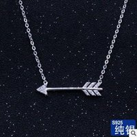 arrow jewellery - new style sterling silver necklace fashion pendant high quality AAA cubic zirconia with real rhodium jewellery for girls arrow necklace