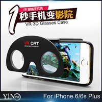 abs cat - VR D Glasses Case for iPhone S Plus Hybrid ABS and PC VR Virtual Reality D Glasses Cat Cover iPhone6s