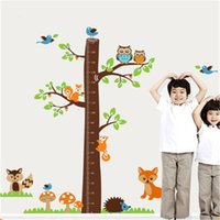 art squirrel - 182x185cm Cartoon Squirrel Growth Chart for Kids Rooms Living Room Home Decor Wall Decor Mural Art
