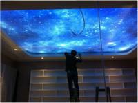 Wholesale Custom Blue Sky and White Clouds Star D UV Printed PVC Transparent Stretch Ceiling Film