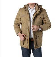 Wholesale New winter Men Jaket Brand warm Jacket Man s Coat Autumn Cotton Parka Outwear coat men winter jacket M xl