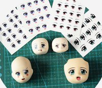 Wholesale Hot explosion models Clay eyes water stickers diy Anime doll eyes sticker