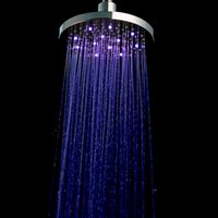 Wholesale PHASAT Brushed Brass Round Inch LED Shower Change Water Temperature Color Rain Shower Bathroom Shower Heads