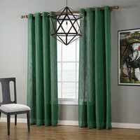 Wholesale High Quality Transparent Linen window roman blinds Linen Curtain