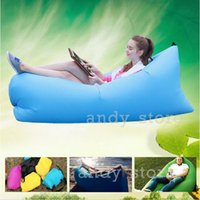 Wholesale Outdoor Sleep Bag Adults Single Sofa Lounger Camping Inflatable Chair Bed Color Only Need Seconds Inflatable Bean Bag Sofa
