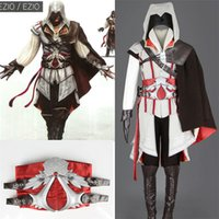 Wholesale 2016 New Hot Assassins Creed Cosplay Overcoat Assassin s Creed Cool Men Tops Slim Connor Jacket a Suit