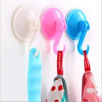 Wholesale Vacuum sucker hook Kitchen Bathroom Plastic Hanger Suction Suckers vacuum chuck for household use