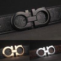al por mayor para hombre de la hebilla ocasional-2016 nuevos cinturones de marca de lujo mens cinturones de cuero hebilla lisa original Casual Jeans correas cinturones de diseño