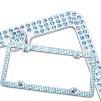 Wholesale Fashion Custom bling out diamond bling license plate frame for car decor fashion spectacle frame