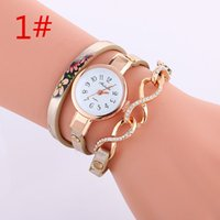 arrow steel watch - Popular Womens Retro Crystal Dial Arrow Charm Weaved Leather Band Punk Style Watch WristWatches Colors