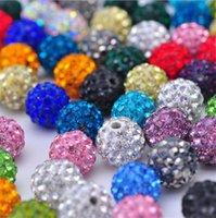 Precio de Mixed crystal beads-¡Barato! 700pcs / lot 10m m color mezclado disco de la CZ granos de la bola cristalina de Shamballa del grano de la pulsera del collar 2500