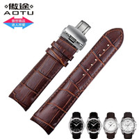 auto leather hides - AUTO Genuine Leather Watchband Watch Band Strap for Tissot T035 T035617 T035439 corium Watch Bands mm FREE INSTALL TOOLS