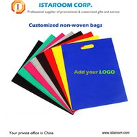Cheap different material Custom shopping bag non-woven OEM logo printing for Advertising promotional gift package gift bags with your logo